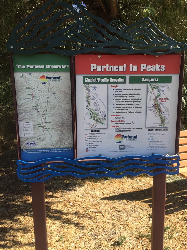 Repainted the Learning Trail @ Sacagawea Park - Bannock